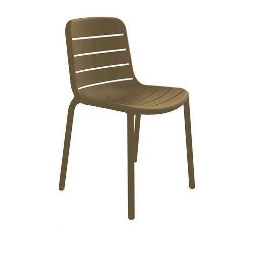 Krzesło z tworzywa sztucznego Gina bez podłokietników