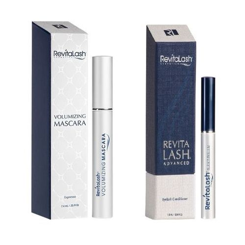 Revitalash zestaw | eyelash conditioner advanced 1,0ml + volumizing mascara espresso 7,4ml