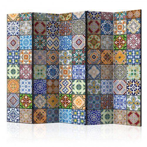 Artgeist Parawan 5-częściowy - kolorowa mozaika ii [room dividers]