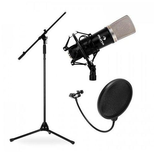 Estradowy-&zestaw mikrofonowy cm003 z mikrofonem, statywem i stojakiem marki Auna
