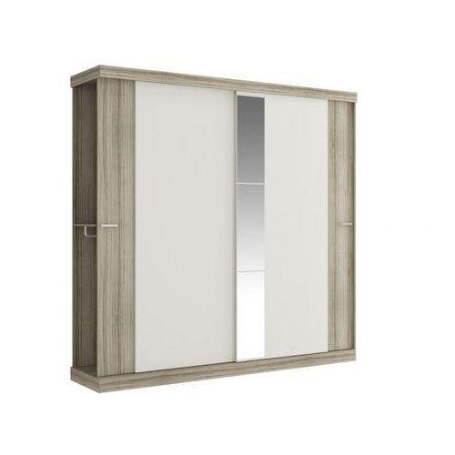 Vente-unique Szafa adalrik - podwójne drzwi przesuwne - dł.231 cm - kolor: dąb i kość słoniowa