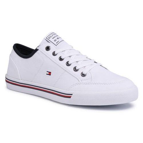 Tenisówki - core corporate textile sneaker fm0fm02676 white ybs marki Tommy hilfiger