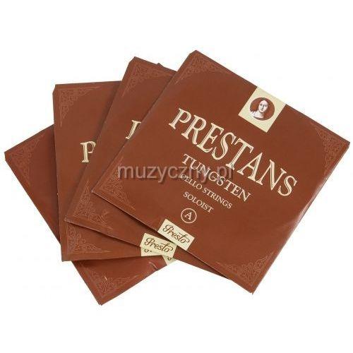 cello prestans silver struny wiolonczelowe solistyczne 4/4 marki Presto