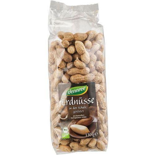 Dennree (dżemy, miody, herbaty) Orzeszki ziemne prażone w łupinach bio 330 g - dennree (4021851455005)