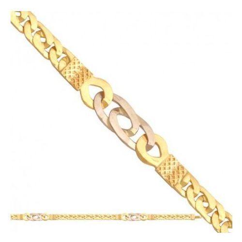 Rodium Łańcuszek złoty pr. 585 - lm007
