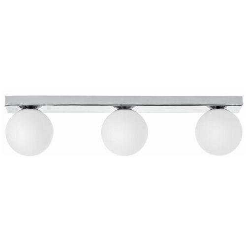 Plafon LAMPA sufitowa MIJA 10761303 Kaspa szklana OPRAWA kule balls na listwie modernistyczne chrom białe (5902047304026)