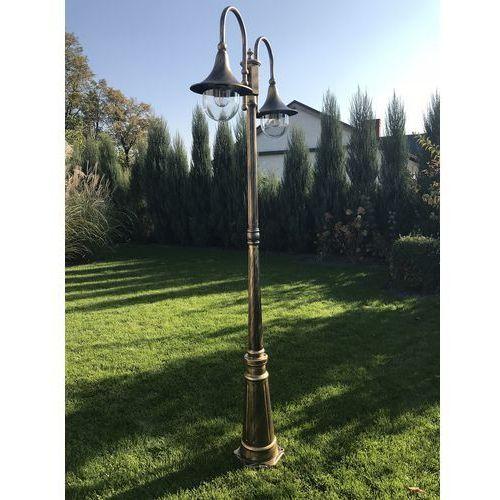 024097 lampa stojąca ogrodowa cima pt2 przecierane złoto marki Ideal lux
