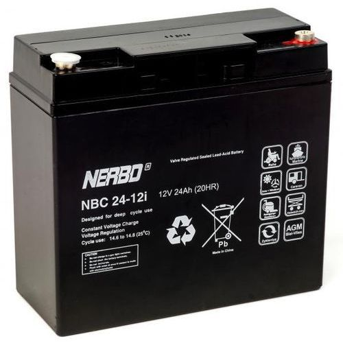 Akumulator agm nbc 24-12i (12v 24ah) marki Nerbo