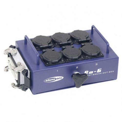 bo6s1 breakoutbox 6 - dystrybutor 16-pin -> 6x schuko marki Showtec