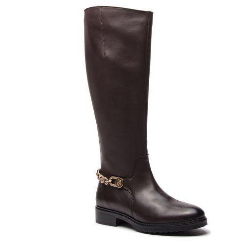 Oficerki - chain long boot l fw0fw03312 coffee bean 212 marki Tommy hilfiger