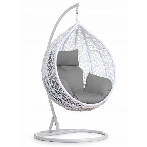 Fotel wiszący huśtawka ogrodowa - biały marki Paia