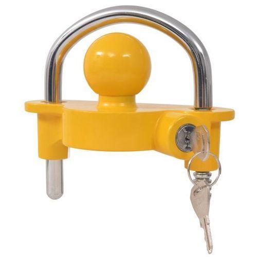 blokada zaczepu kulowego z 2 kluczami, stal i aluminium, żółta marki Vidaxl