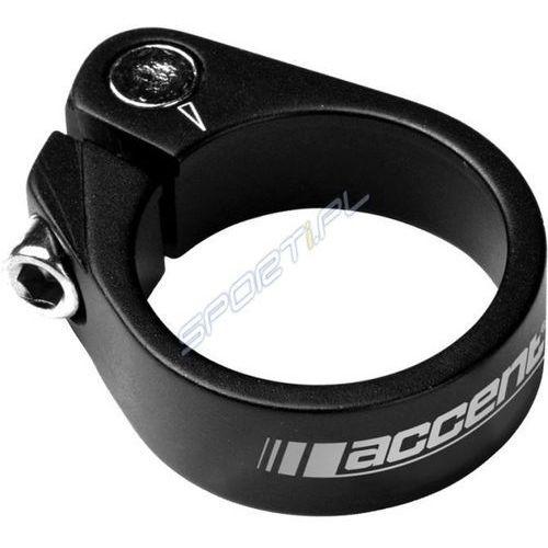 610-00-23_acc obejma ze śrubą imbusową light 31.8mm, czarna piaskowana marki Accent