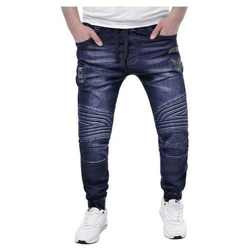 Spodnie jeansowe męskie joggery - arm1020a niebieskie