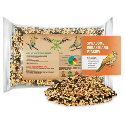 1kg Pokarm dla ptaków zimujących. Ziarno dla ptaków, dla sikorek. (5902838390481)