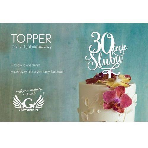 Topper na tort jubileuszowy - rocznica ślubu - TOP028
