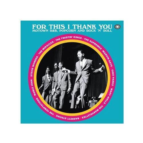 For This I Thank You - Motown R&b Popcorn And Rock'n'roll - Różni Wykonawcy (Płyta CD)