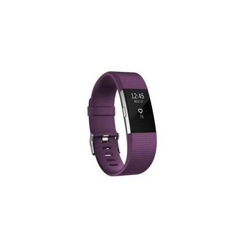 Fitbit opaska charge 2, fioletowo/srebrna (plum/silver), mała (s)