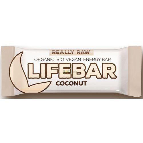 Lifefood (batony raw, syrop z jakonu) Baton kokosowy raw bio 47 g - lifefood (8594071484552)