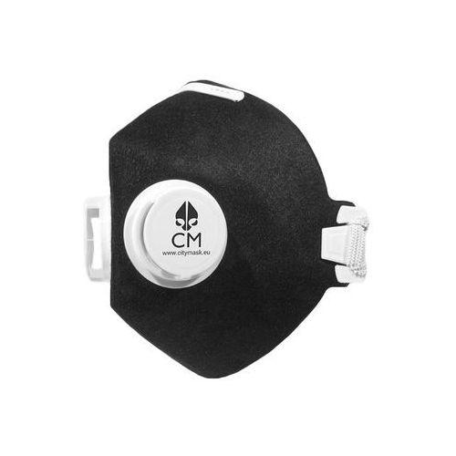 Maska antysmogowa CityMask czarno-biała z węglem aktywnym