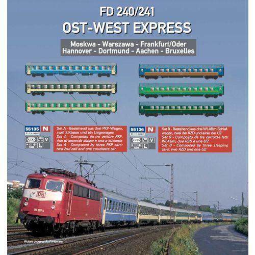 Zestaw wagonów osobowych RZD Ost-West Express nr B / 3szt. ACME 55136 (8020300551363)