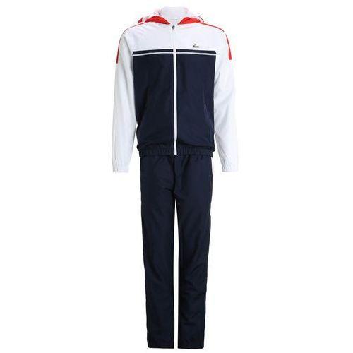 Lacoste Sport Dres navy blue/white corrida, materiał poliester, niebieski