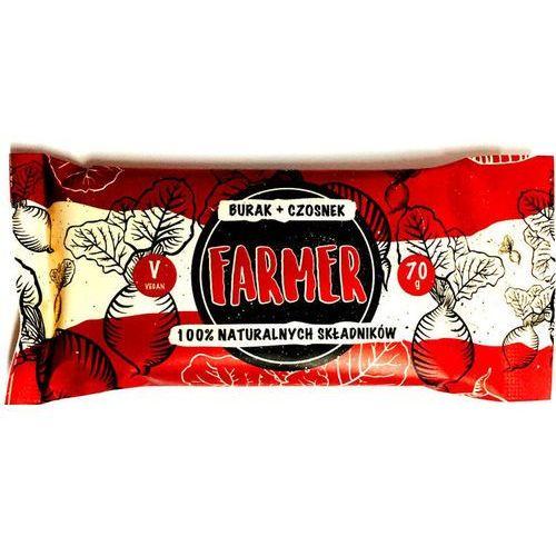 Farmer burak+czosnek baton 100% naturalnych składników 70g marki Zmiany zmiany