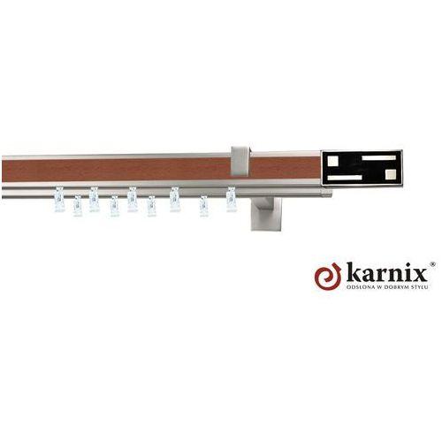 Karnisz apartamentowy AVENO podwójny 31x13/31x13mm Aster Chrom - calvados ze sklepu KARNIX Sklep online