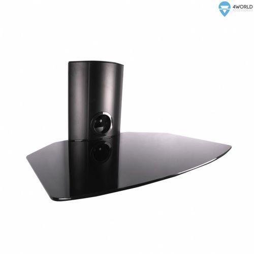 półka ścienna na dvd, udźwig 10kg, szkło, czarna (07502-blk) darmowy odbiór w 16 miastach!, marki 4world