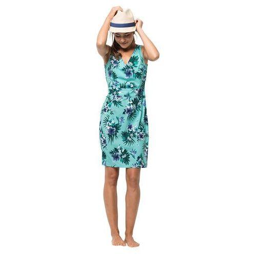 Sukienka WAHIA TROPICAL DRESS aqua all over - S, 1503584-7757002