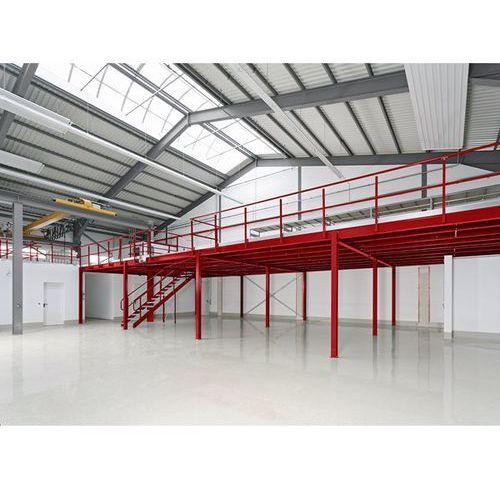 Pomost magazynowy, przęsło podst., obciążenie powierzchniowe 350 kg/m², raster w
