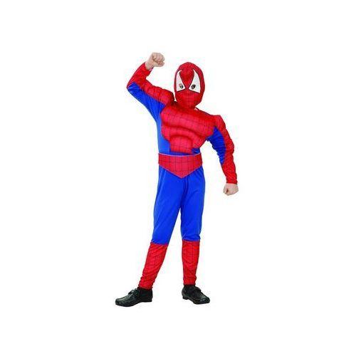 Kostium dziecięcy Człowiek Pająk - Spiderman z mięśniami - L - 131/140 cm