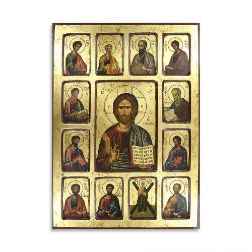 Ikona Chrystus Wszechwładca z Apostołami, 30 x 40 cm, 0513CR
