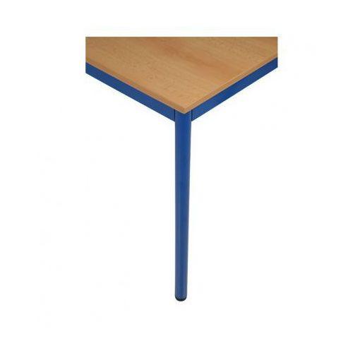 Stół kuchenny - okrągłe nogi, niebieska konstrukcja, 1200x800 mm
