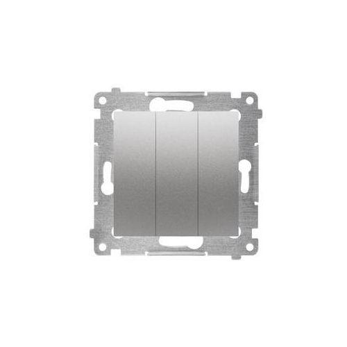 Kontakt simon Włącznik potrójny simon 54 srebrny