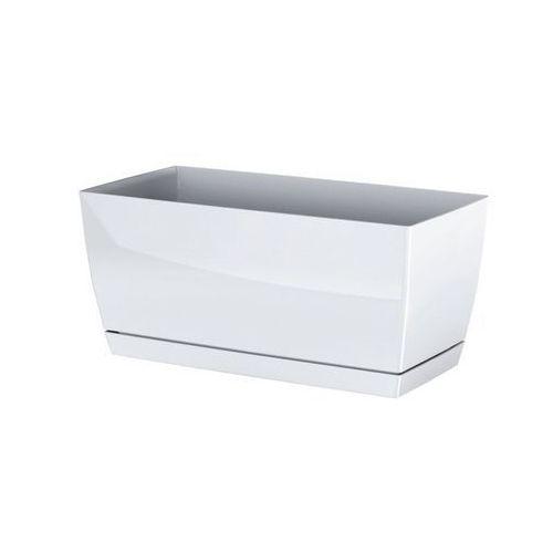 Prosperplast plastikowa skrzynka coubi case z podstawką biały, 39 cm, 39 cm marki 4home