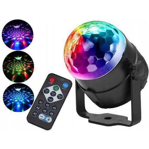 Iso Kula dyskotekowa led ball disco laser rgb + pilot (00007056)