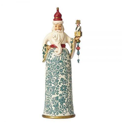 """Mikołaj biały """" Łaskawy jest dający"""" Gracious Is Giving (Golden Garland Santa) 4058759 Jim Shore figurka ozdoba świąteczna"""
