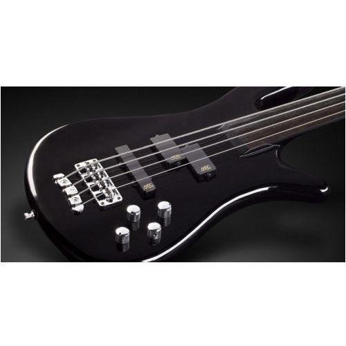 streamer nt i 4-string, solid black high polish, fretless gitara basowa marki Rockbass