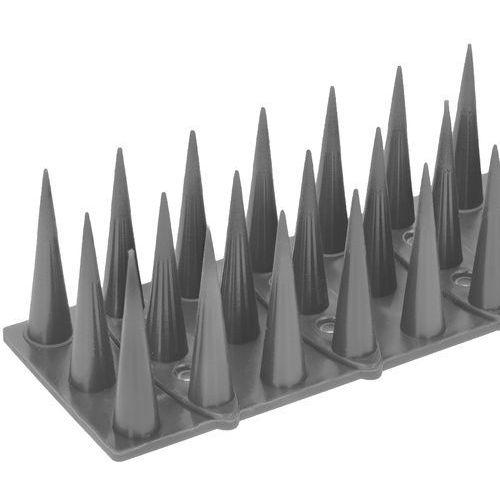 No-pest Plastikowe kolce na ptaki. listwa z kolcami przeciw ptakom srebrna