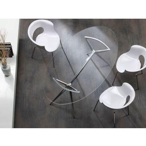 Stół Metropolis I transparentny nogi chromowe Machina Meble 5301-400-7011-CR-001 - produkt dostępny w sfmeble.pl