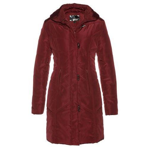 Płaszcz pikowany czerwony kasztanowy marki Bonprix
