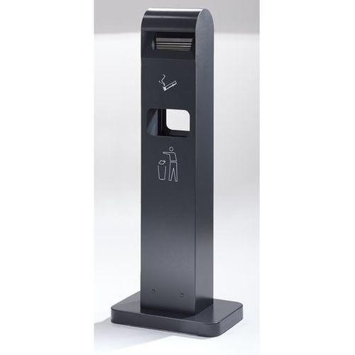 B2b europe Popielniczka combi, poj. pojemnika na odpady 8 l, poj. popielniczki 2 l, wys. x