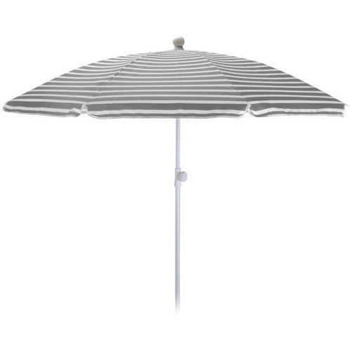 Parasol ogrodowy 180cm SZARO-BIAŁY - szaro-białe