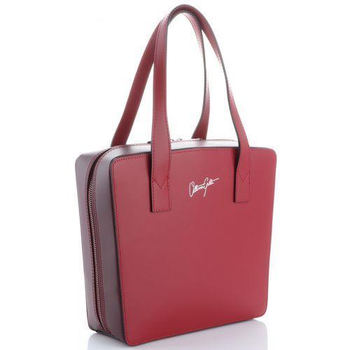 6e19274694c60 Vittoria Gotti Modne i Oryginalne firmowe Torebki Skórzane Made in Italy  Czerwone Bordowe (kolory) 228