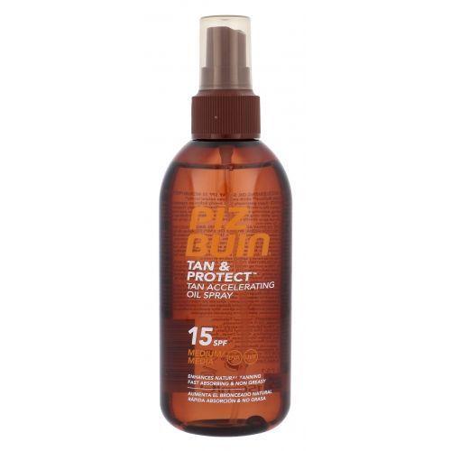 tan & protect tan accelerating oil spray spf15 preparat do opalania ciała 150 ml dla kobiet marki Piz buin