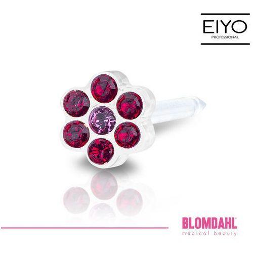 Blomdahl Kolczyk do przekłuwania uszu - daisy ruby / rose 5 mm