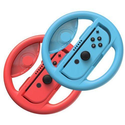 Baseus zestaw 2x kierownica do Nintendo Switch nakładka na Joy-Con joystick pad czerwony i niebieski (GMSWB-93) - Czerwono-niebieski (6953156216693)