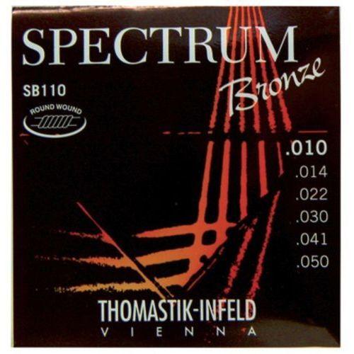 Thomastik (669107) struny do gitary akustycznej Spectrum Bronze - SB 110 - Extra Light.010-.050