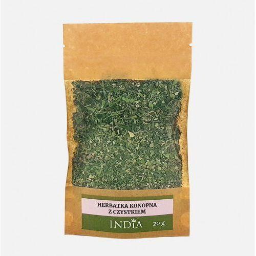 Herbatka konopna z czystkiem 20g - marki India cosmetics